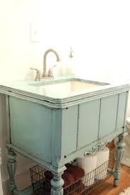 Repurposed Furniture For Bathroom Vanity Shabby Chic Bathroom Vanity A Repurposed Sewing Machine Cabinet Is