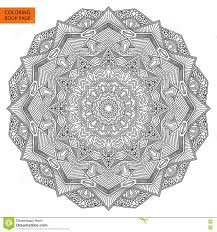 intricate flower coloring page stock vector image 69092317