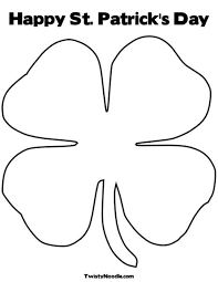 4 leaf clover template shamrock template st s day coloring page 27 printable