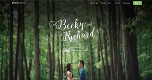 Wedding Websites Wedding One Page Websites