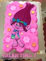 trolls number 2 cake number cakes pinterest birthdays troll