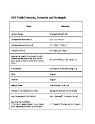 sat math review formulas strategies and concepts study aid