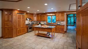 cherry cabinets travertine floors cherry wood kitchen