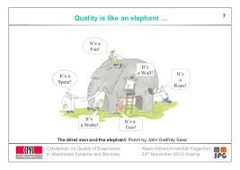 Poem The Blind Man And The Elephant Quality Of Experience Past Present And Future Trends
