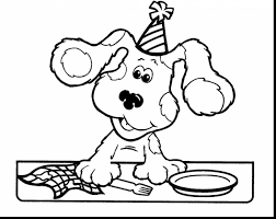impressive blues clues notebook coloring pages with blues clues