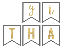 thanksgiving banner free printable paper trail design