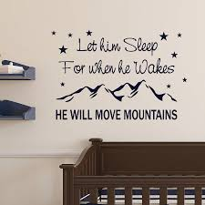 nursery wall stickers notonthehighstreet com will move mountains nursery wall quote