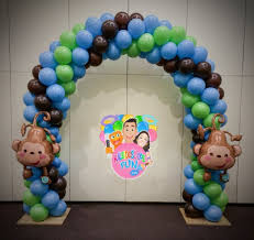 monkey decorations for baby shower baby shower decorations baby monkey balloon arch www balloon ideas
