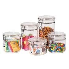 oggi kitchen canisters oggi 5 pc acrylic canister set target