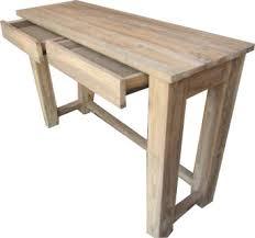 bureau 120 cm teak sidetable console bijzettafel bureau 120 cm staden 2 laden