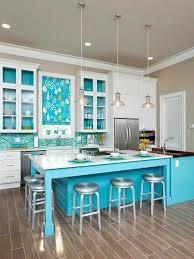 design beach cottage kitchens designs with blue color cabinet