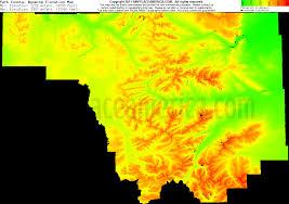 Usa Radar Map by Free Park County Wyoming Topo Maps U0026 Elevations