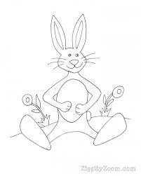 bunny coloring print ziggity zoom