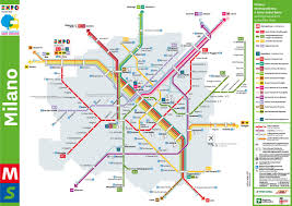 Red Line Metro Map Milan Finally City Transport System Network In Milan And