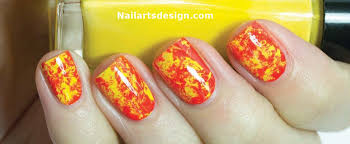 60 stylish orange nail art designs
