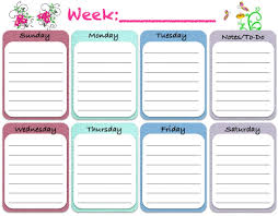 best free printable weekly planner weekly blank calendar template 5 free printable weekly planner