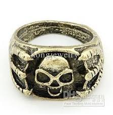 cheap mens rings images The cheap ring retro skull punk claw gold silver mens rings colors jpg