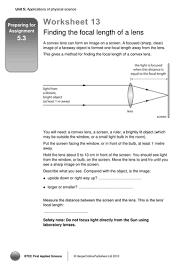 lenses convex and concave by lrcathcart teaching resources tes