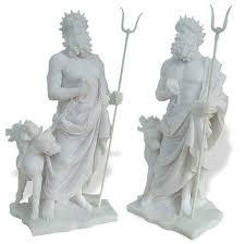 hades pluto with cerberus sculpture greek gods statues