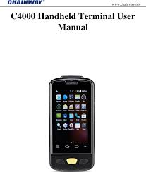 c4000 a mobile data terminal user manual c4000 shenzhen chainway