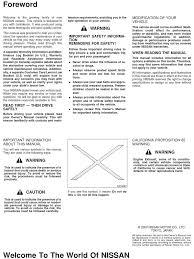 2000 nissan maxima owner u0027s manual airbag seat belt