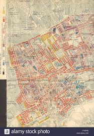 Paper Town Map Charles Booth Poverty Map Soho Bloomsbury Fitzrovia Covent Gdn St