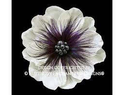 feather flower feather hair flower hair accessory wedding hair clip purple
