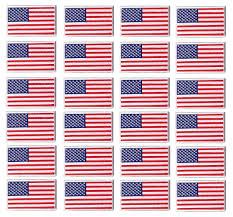 Uniform Flag Patch Bulk 24 White Border Forward Usa Us Flag Iron On Sew 3x2 Shirt Hat