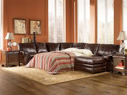 Sectional Leather Sleeper Sofa Signature Design By Merrion Mahogany Leather Sectional With