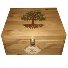 Personalised Keepsake Box Large Lockable Family Keepsake Boxes Personalised Wooden Painted