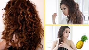pineapple hair trick curly hair routine youtube