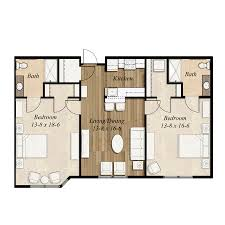 Two Bedroom Floor Plan Choose Your Own Home At Birch Hill Terrace