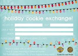 invitation cookie exchange invitation template
