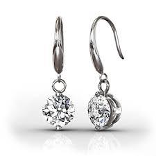 white gold dangle earrings cate 18k white gold dangling earrings