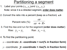 Midpoint Of A Line Segment Worksheet Partitioning A Segment Easing The Hurry Syndrome