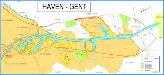 Physical Features Of Europe Map by Physical Features Of The Port Of Ghent Vlaamse Havencommissie