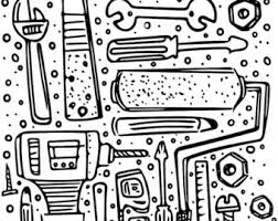 construction tools coloring pages xo lp by xolp on etsy