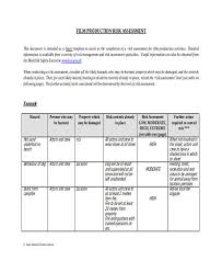 manufacturing risk assessment template 29 free risk assessment forms