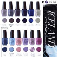 opi products iceland winter 2017 collection nail polish