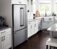 what size should a kitchen be to an island counter depth refrigerator dimensions maytag