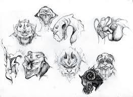 monsters sketch by happysadcorner on deviantart
