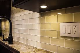 How To Install Subway Tile Backsplash Kitchen by Cream Glass Subway Tile Kitchen Backsplash Amys Office