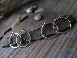 silver sleeper earrings set of tiny sleeper hoop earrings in silver gold poseidon s