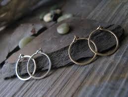 silver sleeper earrings set of tiny sleeper hoop earrings in silver gold poseidon s