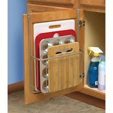 Over The Cabinet Door Basket by Hangs Over Cabinet Door To Maximize Storage Jayco Camping