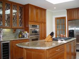 kitchen remodel in monmouth county with cherry cabinets