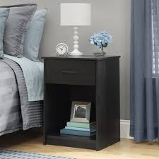Black Wood Nightstand Furniture Awesome Wood Nightstands For Bedroom Design Ideas Www