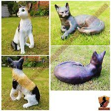 cats garden statues lawn ornaments ebay