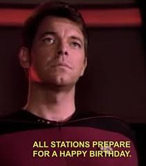 Star Trek Happy Birthday Meme - riker no beard nerdery neat o funnies pinterest