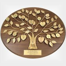engraved anniversary gifts engraved 50th anniversary gift gold family tree plaque is a